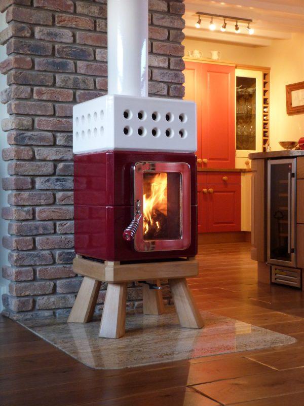 Mini Stack Wood Burning Stove Italian Ceramic Stove