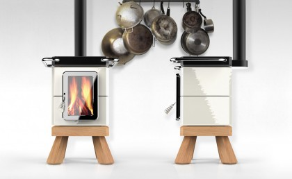 Cookin Stack Stove front and side view