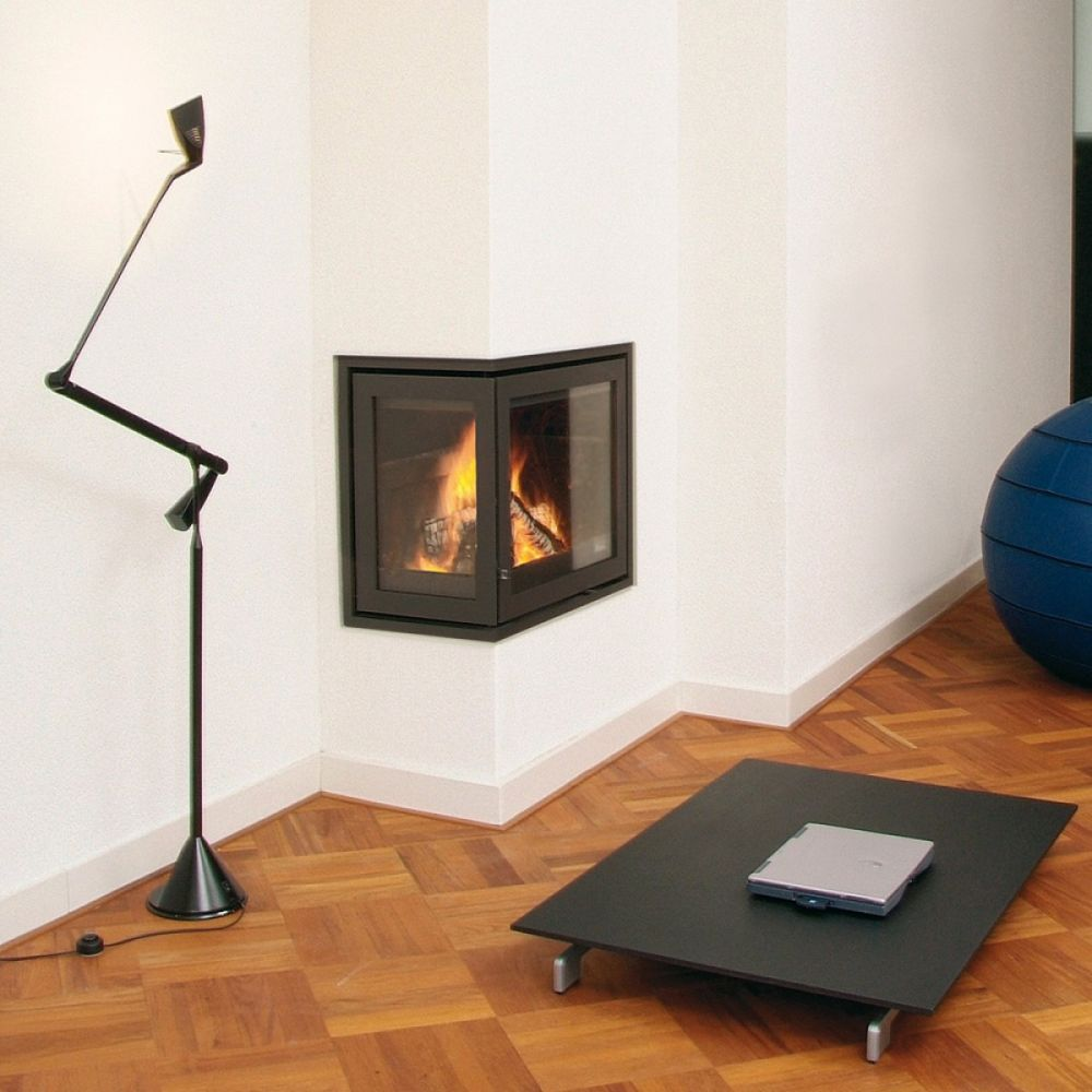 Dik Geurts Instyle Corner High Ea Woodburning Fire 6 Kw