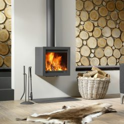 Dik Geurts Bora Fixed Wood Stove 4kW - Wood Burning Stoves
