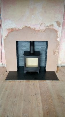 A black dik geurts Ivar 5 stove instllation
