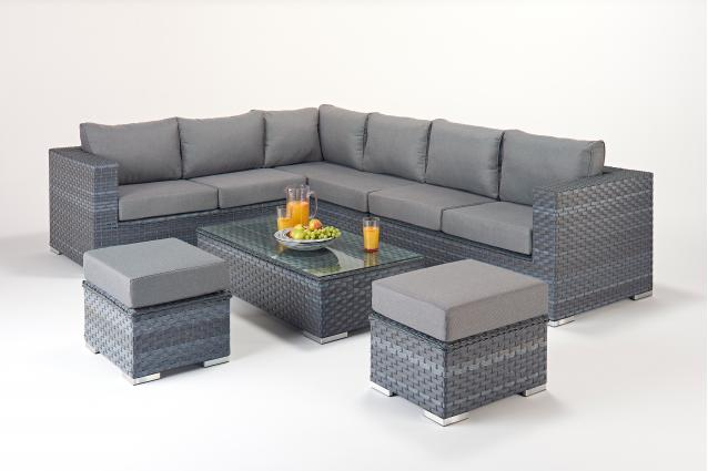 Order Platinum Grey Large Corner - Left -|Outdoor Living ... on Platinum Outdoor Living id=69842