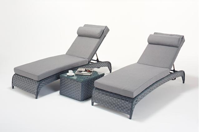 Order Platinum Grey Lounger Pair -|Outdoor Living Garden ... on Platinum Outdoor Living id=72747