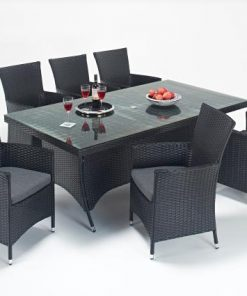 Prestige Rectangle Dining 6 Rattan Outdoor Living Garden Furniture
