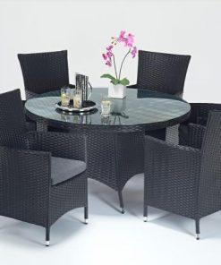 Prestige Round Dining 6 Rattan Outdoor Living Garden Furniture