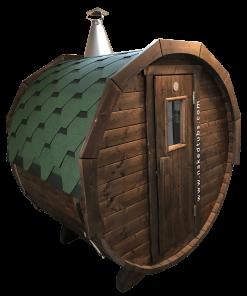 Duet Sauna wood-fired