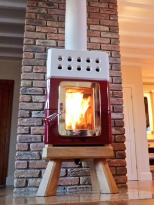 mini stack, wood burning or multifuel stove